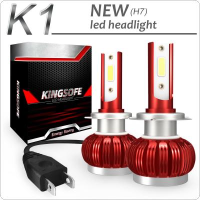 2pcs K1 H7 72W 8000LM IP68 6000K White COB LED Headlight Kit Waterproof for Car / Truck / SUV / RV