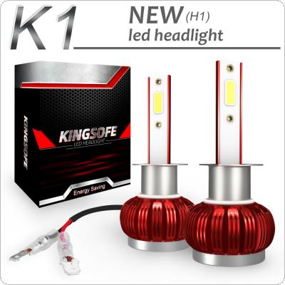 2pcs K1 H1 72W 8000LM IP68 6000K White COB LED Headlight Kit Waterproof for Car / Truck / SUV / RV