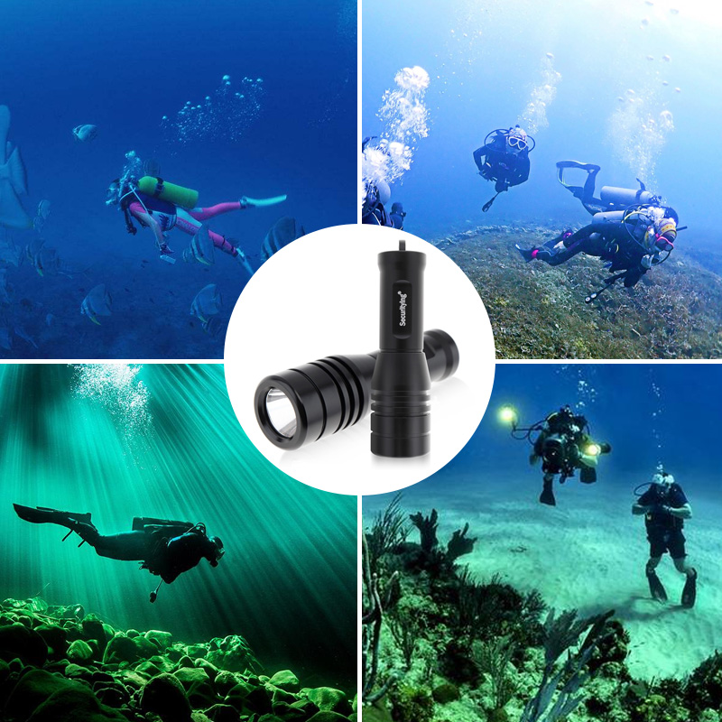 SecurityIng 570Lm XM-L2(U4) LED IP68 Underwater 150M Scuba Diving Photography Video Flashlight for Professional Diving / Cave Exploration / Flood Control