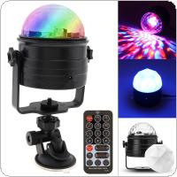 RGB USB 6W Colorful Remote Control LED DISCO Voice Controlled Magic Ball Stage Effect Light Support Night Light Mode for Night Light / Stage / Christmas / Party