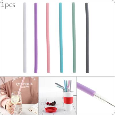 1pcs 6 Colors Universal  Reusable Flexible Straight Silicone Drinking Straws for - 40 Centigrade ~ 230 Centigrade