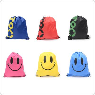 Waterproof Outdoor Beach Swimming Sports Drawstring Backpack Organizer Gym Storage Bag for Shoes Towel Clothes