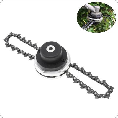Black Steel Brush Cutter Lawn Mower Trimmer with Installed Coil Chains for Garden / Agricultural