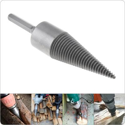 30MM Steel Speedy Screw Cones Drill Bit with Hexagonal Handle for Soft / Hard Firewood