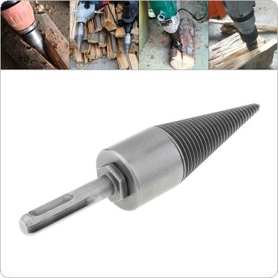 30MM Steel Speedy Screw Cones Drill Bit with Round Handle for Soft / Hard Firewood