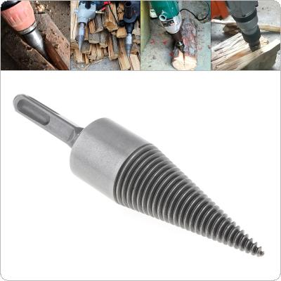 30MM Steel Speedy Screw Cones Drill Bit with Square Handle for Soft / Hard Firewood