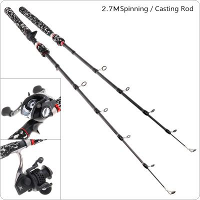 2.7m Camouflage 7 Section Carbon Fiber Lure Fishing Rod Ultra Light Spinning / Casting Fishing Pole