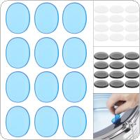 12pcs/set Drum Mute Pad Transparent Silicone Jazz Snare Drum Muffler 3 Colors Optional