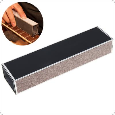 15 x 3.8 x 2.5cm Guitar Neck Fret Leveling Sanding Aluminum Beam Luthier Tool With Self Adhesive Sandpaper