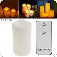 13 x 7.5CM Flameless LED Candle Light with Remote Control Home Tea for Weddings Christmas Festival Celebration Parties Gifts