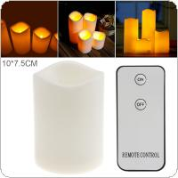 10 x 7.5CM Flameless LED Candle Light with Remote Home Tea Light  for Weddings Christmas Festival Celebration Parties Gifts
