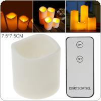 7.5 x 7.5CM Flameless LED Candle Light with Remote Home Tea Light  for Weddings Christmas Festival Celebration Parties Gifts