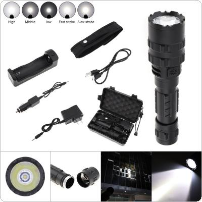 65000 Lumens L2 LED Tactical Flashlight Torch Set Ultra Bright USB Rechargeable Waterproof Scout Light Torch Hunting Light 5 Modes by 1 x 18650 Battery