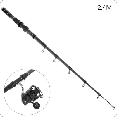 2.4m Carbon Fiber Telescopic Fishing Rods Fasten Guides Ultra Short 8 Section Portable Fishing Pole