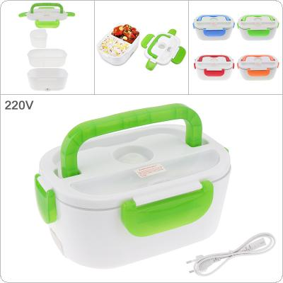 220V 1.5L Split-type Portable Food Warmer Heating Keeping Electric Lunch Box with Spoon / EU Charging Line