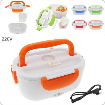 220V 1.5L One-piece Type Portable Food Warmer Heating Keeping Electric Lunch Box with Spoon / EU Charging Line