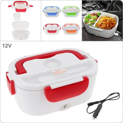 12V 1.5L Split-type Portable Food Warmer Heating Keeping Electric Lunch Box with Spoon / 12V Charging Line for Car