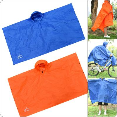 3 In 1 Multifunctional Raincoat Outdoor Camping Hiking Travel Rain Poncho Backpack Rain Cover Waterproof Tent Awning Climbing