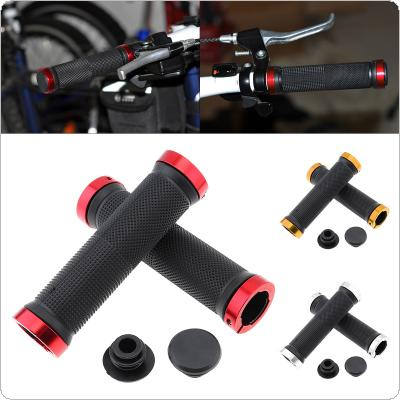 1 Pair MTB Road Cycling Handlebar Grips Anti-Skid Rubber Bicycle Grips Mountain Bike Lock On Bicycle Handlebars End Grips