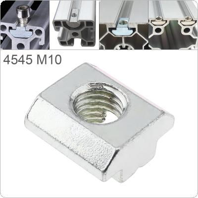 1PCS M10 for 45 Series Slot T-nut Sliding T Nut Hammer Drop In Nut Fasten Connector 4545 Aluminum Extrusions