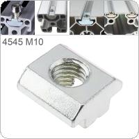 1PCS M10 for 45 Series Slot T Nut Sliding T Nut Hammer Drop In Nut Fasten Connector 4545 Aluminum Extrusions