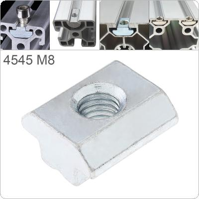 1PCS M8 for 45 Series Slot T-nut Sliding T Nut Hammer Drop In Nut Fasten Connector 4545 Aluminum Extrusions