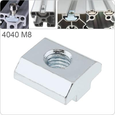 1PCS M8 for 40 Series Slot T-nut Sliding T Nut Hammer Drop In Nut Fasten Connector 4040 Aluminum Extrusions