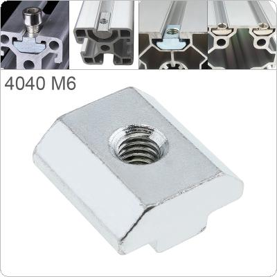 1PCS M6 for 40 Series Slot T-nut Sliding T Nut Hammer Drop In Nut Fasten Connector 4040 Aluminum Extrusions