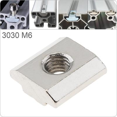 1PCS M6 for 30 Series Slot T-nut Sliding T Nut Hammer Drop In Nut Fasten Connector 3030 Aluminum Extrusions