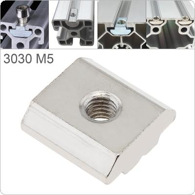 1PCS M5 for 30 Series Slot T-nut Sliding T Nut Hammer Drop In Nut Fasten Connector 3030 Aluminum Extrusions