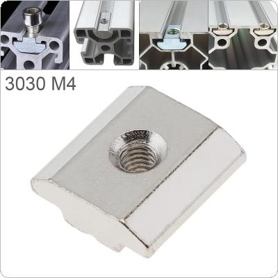 1PCS M4 for 30 Series Slot T-nut Sliding T Nut Hammer Drop In Nut Fasten Connector 3030 Aluminum Extrusions