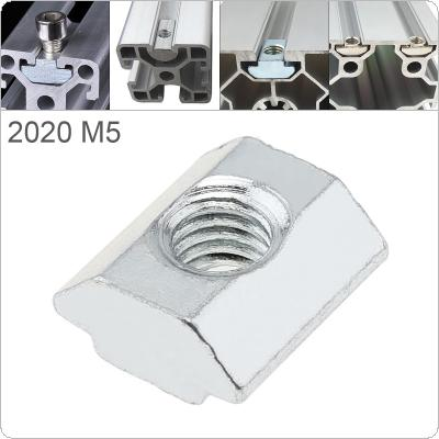 1PCS M5 for 20 Series Slot T-nut Sliding T Nut Hammer Drop In Nut Fasten Connector 2020 Aluminum Extrusions