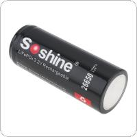 Soshine 2pcs 26500 15A 3.2V LiFePO4 10.24WH 3200mAh Flat Top Rechargeable Protected Battery