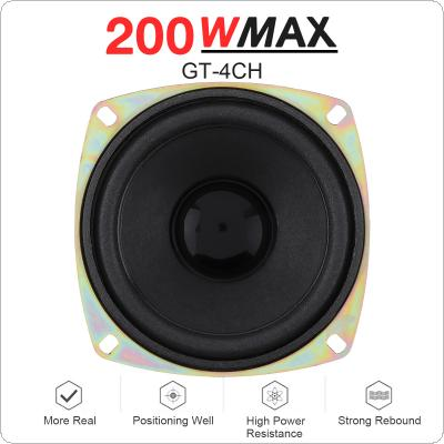 1pcs 4 Inch 200W Car Coaxial Speaker Vehicle Door Auto Audio Music Stereo Full Range Frequency Hifi Speakers