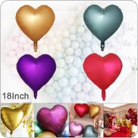 18 Inch  4 Color  Aluminum Film Heart Shaped Balloon Birthday Party Decoration