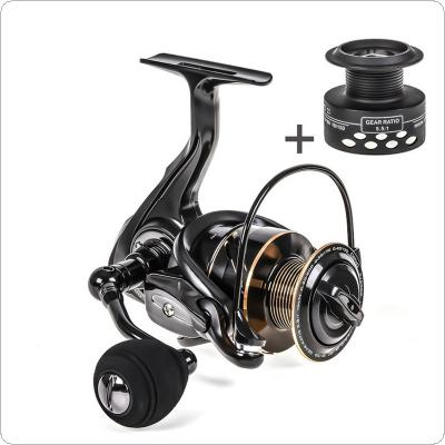Aluminum Alloy Spinning Reel 7.5KG / 17LB Max Drag Power 4000 Series Fishing Wheel for Bass Pike Fishing