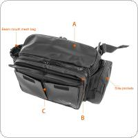 Multifunctional IPX4 Waterproof Fabric Fishing Bag 11L Large Capacity Waist Shoulder Messenger Fishing Tackle Reel Lure Camera Storage Bag