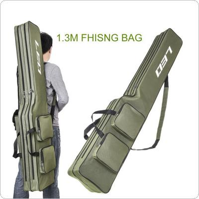 1.3m Double Layer Large Capacity Collapsible Carp Fishing Rod Bags Multi-pocket Sea Fishing Tackle Foldable Package