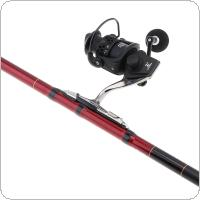 4.5m Telescopic Rock Carp Fishing Rod 8 Section Carbon Fiber Surf Spinning Pole