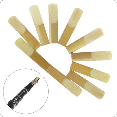 10pcs bB Clarinet Reeds Bulrush Reeds Strength 2.5 Woodwind Mouthpiece Parts