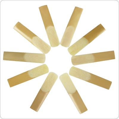 10pcs Soprano Alto Tenor Bb Saxophone Reed Bulrush Reeds Strength 2.5 Saxophone Accessories Parts