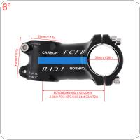 Aluminum  Carbon Fiber Riser Rod Stem Carbon Fiber Bicycle Ultralight Stem Carbon Handle 28.6-31.8MM  6 Degree