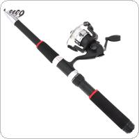 2.1m Fishing Rod Reel Line Combo Full Kits Spinning Reel Pole Set with Fishing Float Hooks Beads Bell Lead weight