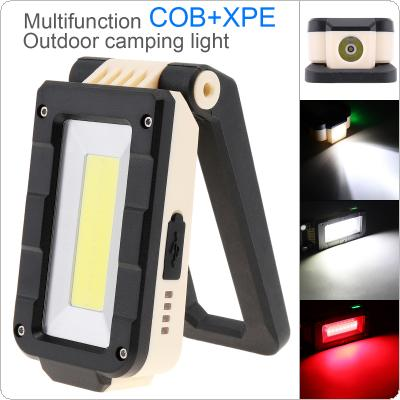 10.5CM XPE+COB LED Folding Rechargeable Portable Lamp Working Spotlights Tent Light with Magnetic Hook for Camping Hiking Emergency