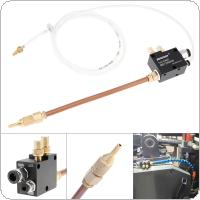 Precision Mist Coolant Lubrication Spray System with 20cm Copper Pipe and Check Valve for Metal Cutting Engraving Cooling Machine / CNC Lathe