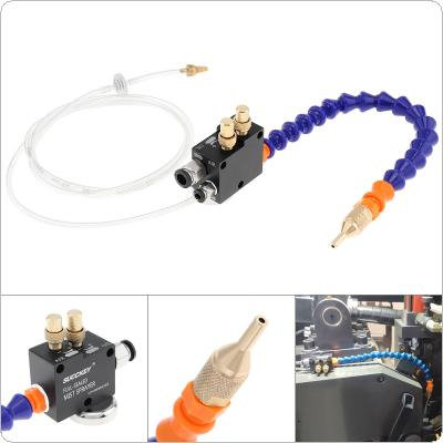 30cm Mist Coolant Lubrication Spray System with Adsorbable Magnetic Base and Fully Sealed Plastic Tube for Metal Cutting Engraving Cooling Machine / CNC Lathe