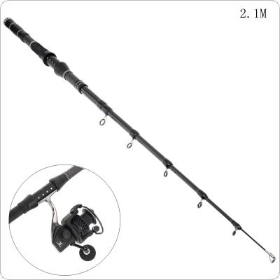 2.1m Carbon Fiber Telescopic Fishing Rods Fasten Guides Ultra Short 7 Section Portable Fishing Pole