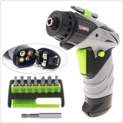 Cordless Mini Electric Screw Driver Drill Battery-Powered with LED Light and 7 Bits for Household Maintenance