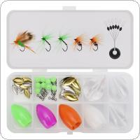73pcs/lot Fly Fishing Hooks Throw Casting Group Kits with Metal Sequins Luminous Fishing Beads Space Bean Swivel Throwing Assistance Fishing Tackle