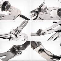 Stainless Steel Foldable Fishing Rod Stand Claw Shape Clamp Holder for Ice Raft Telescopic Hand Rod Bridge Fishing